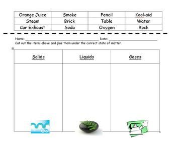Worksheets States Of Matter Worksheet states of matter sorting worksheet scienceexperiments worksheet