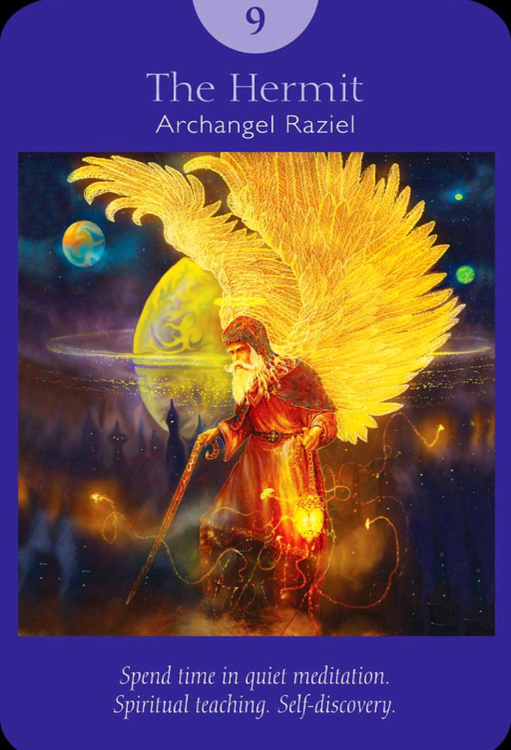 Archangel Raziel, Deck: Angel Tarot Cards