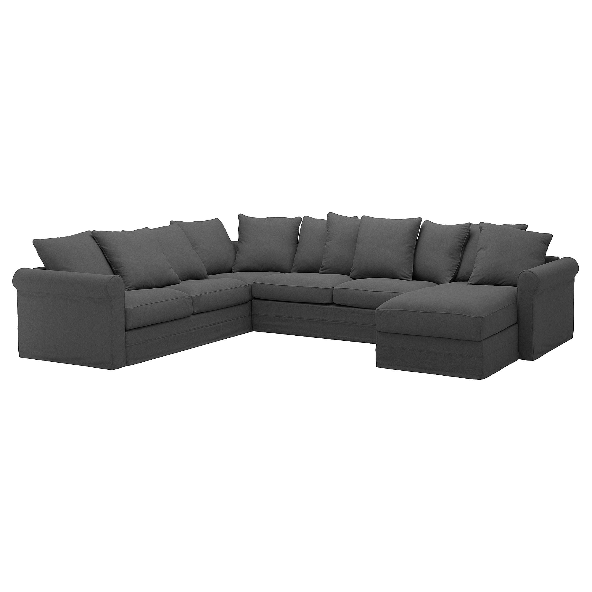 GRÖNLID Corner sofabed, 5seat, with chaise longue