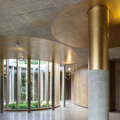 A Crematorium In Rennes France Featuring A Series Of Circular