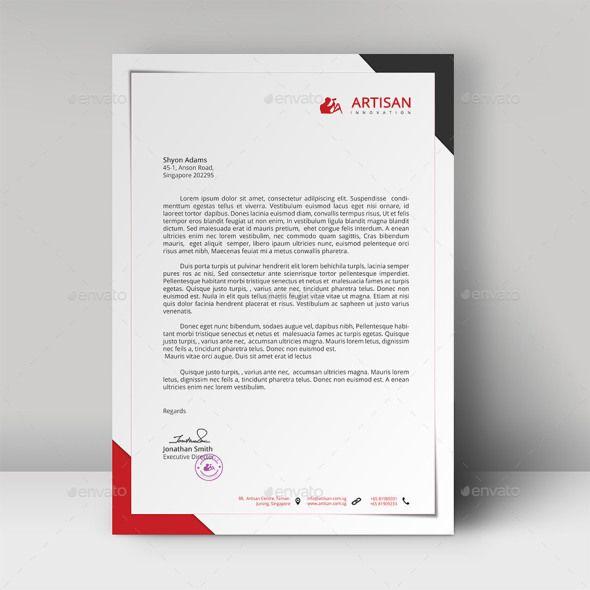 Free Amp Premium Letterhead Templates Multiple Formats Modern