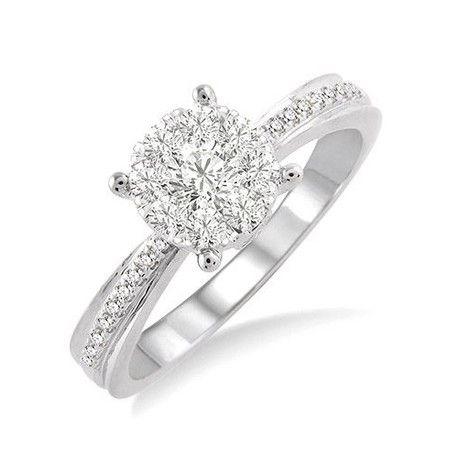 14k White Gold Diamond Engagement RingAndrews Jewelers Buffalo NY