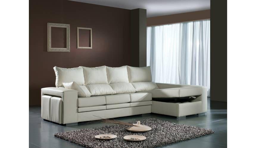 Sofá con chaise longue piel sintética Medidas Ancho 285 cms Fondo