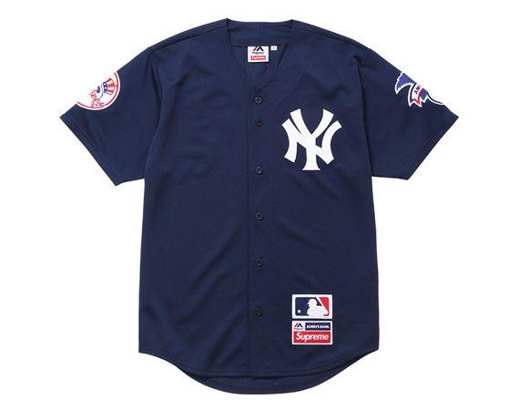 Supreme X New York Yankees X 47 Brand Collection New York Yankees Baseball Jersey Shirt New York Yankees Shirt