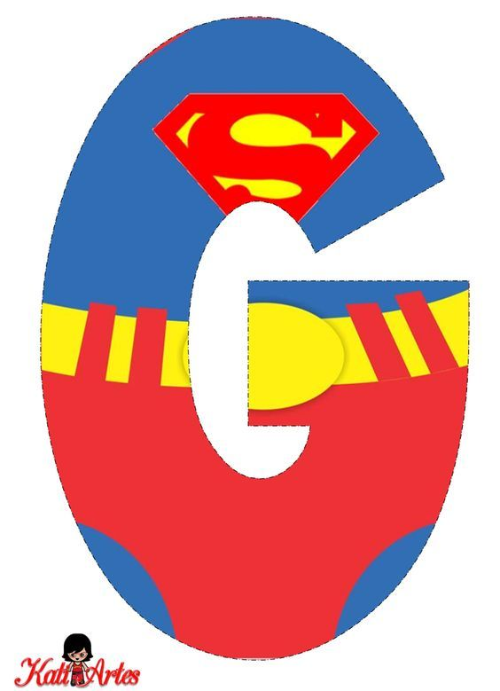 Superman Free Alphabet. Alfabeto Gratis de Superman ...