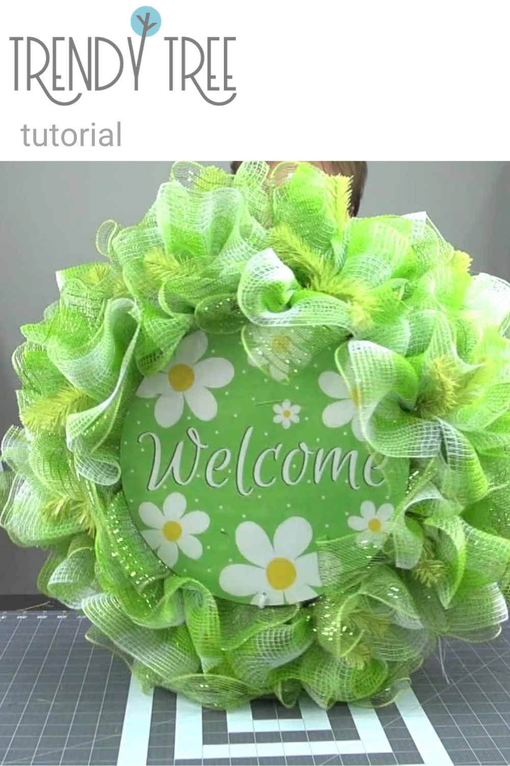 Photo of Spring Welcome Ruffle Wreath Tutorial – Trendy Tree Blog  Holiday Decor Inspiration   Wreath Tutorials Holiday Decorations  Mesh & Ribbons