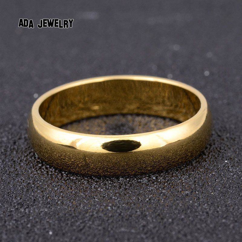 5mm Classic Party Wedding Rings For Men Women Fashion High Polish Band Gold Filled
