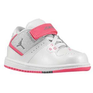 premium selection 9a35b 4fe70 Jordan 1 Flight Mid - Girls  Toddler - White Metallic Platinum Dynamic Pink