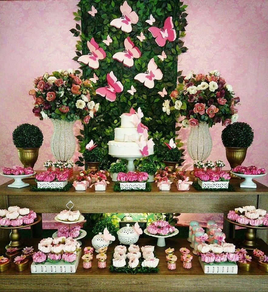 Decoraç u00e3o Jardim Encantado Mais de 30 ideias festa infantil Festa jardim encantado  -> Decoração De Aniversario Jardim Encantado Das Borboletas