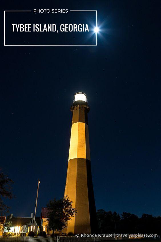 Tybee Island Lighthouse Night