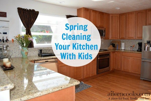 Sprig Cleaning Your Kitchen With Kids is possible with this step by step guide from aileencooks.com