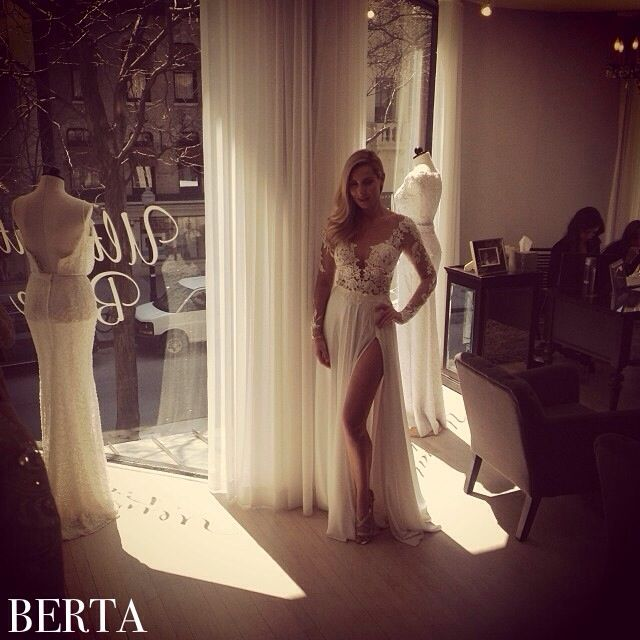 Berta Beauty From Our Chicago Trunk Show At @Cleo Bride