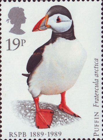 Reino Unido 1989-El Frailecillo Atlántico o frailecillo común, también conocido como frailecillo común o simplemente frailecillo, es una especie de ave caradriforme de la familia Alcidae.