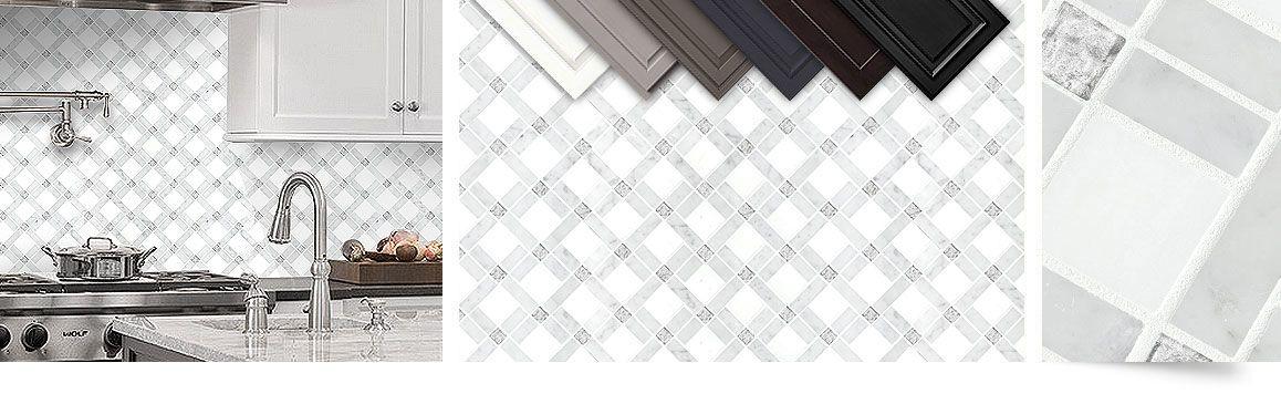 White Gray Marble Kitchen Backsplash Tile Grey Mosaic Picture Best Free Home Design Idea Inspiration