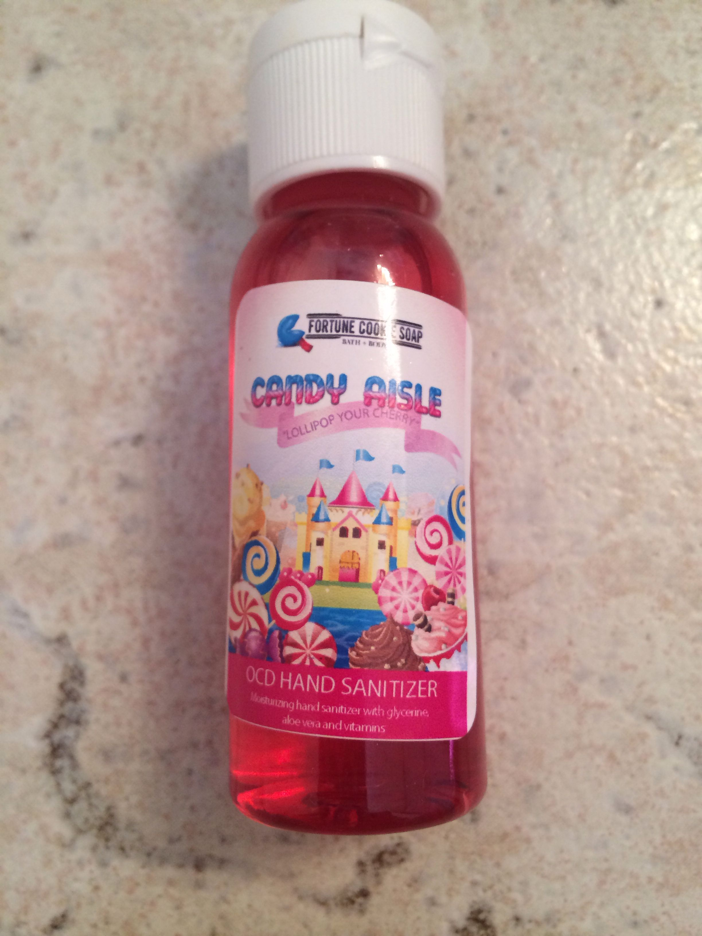 Fortune Cookie Soap Hand Sanitizer Lollipop Your Cherry Scent