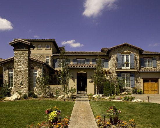 Tuscan exterior design pictures remodel decor and ideas for Tuscan home exterior