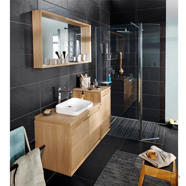 meuble sous vasque avec plan bois rio meubles sdb bathroom bathroom spa et apartment kitchen. Black Bedroom Furniture Sets. Home Design Ideas