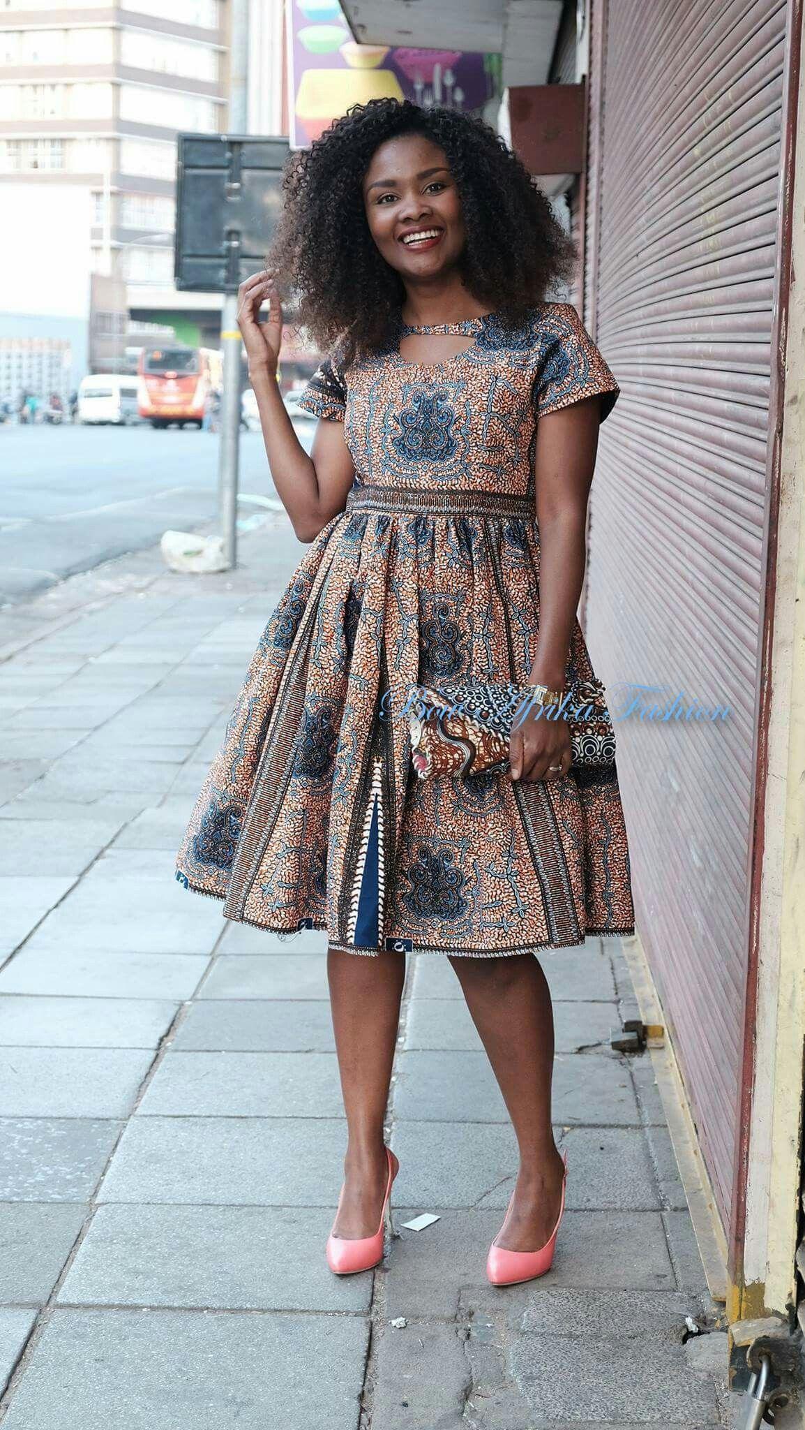 African Print Senegal Midi Dress: Beautiful Intricate Ankara Midi Dress
