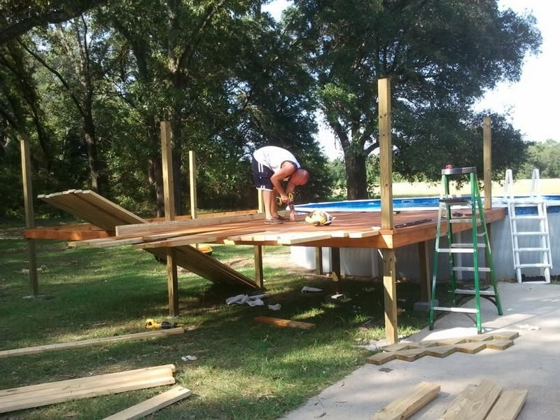 Pin by andre ivanovic on how to build a pool deck for Building a pool