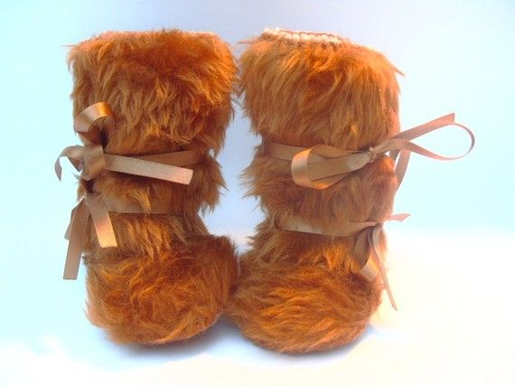 Mr Teddy Bear Furry Baby Boots Mukluk Style Faux Fur Baby Boots by funkyshapes, $32.95
