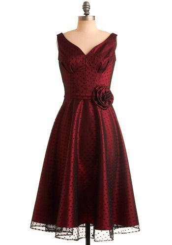 Ablaze with Beauty Dress by Stop Staring! - Red, Black, Polka Dots ...