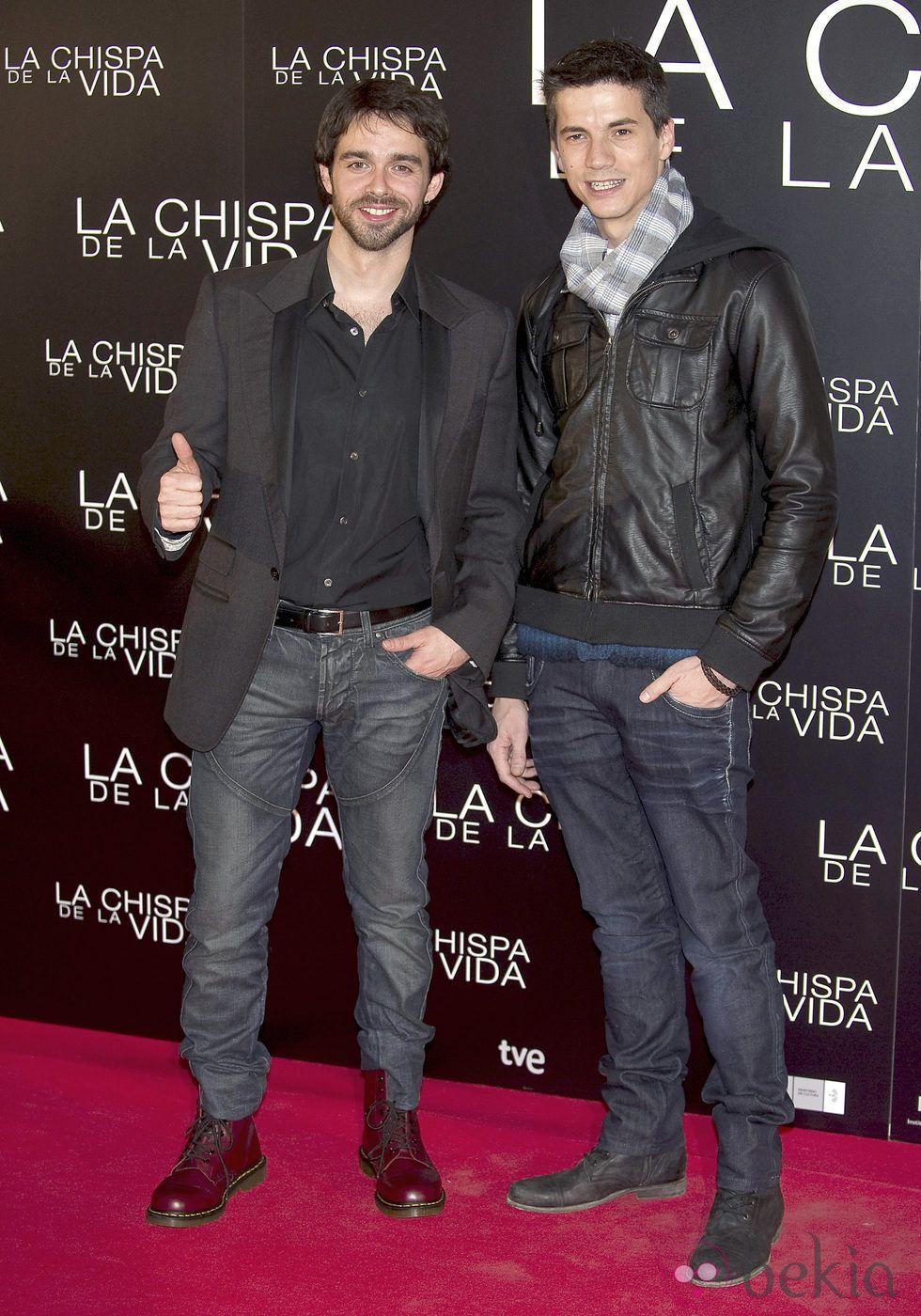 Alberto Amarilla y Marco Martínez en el estreno de 'La chispa de ...