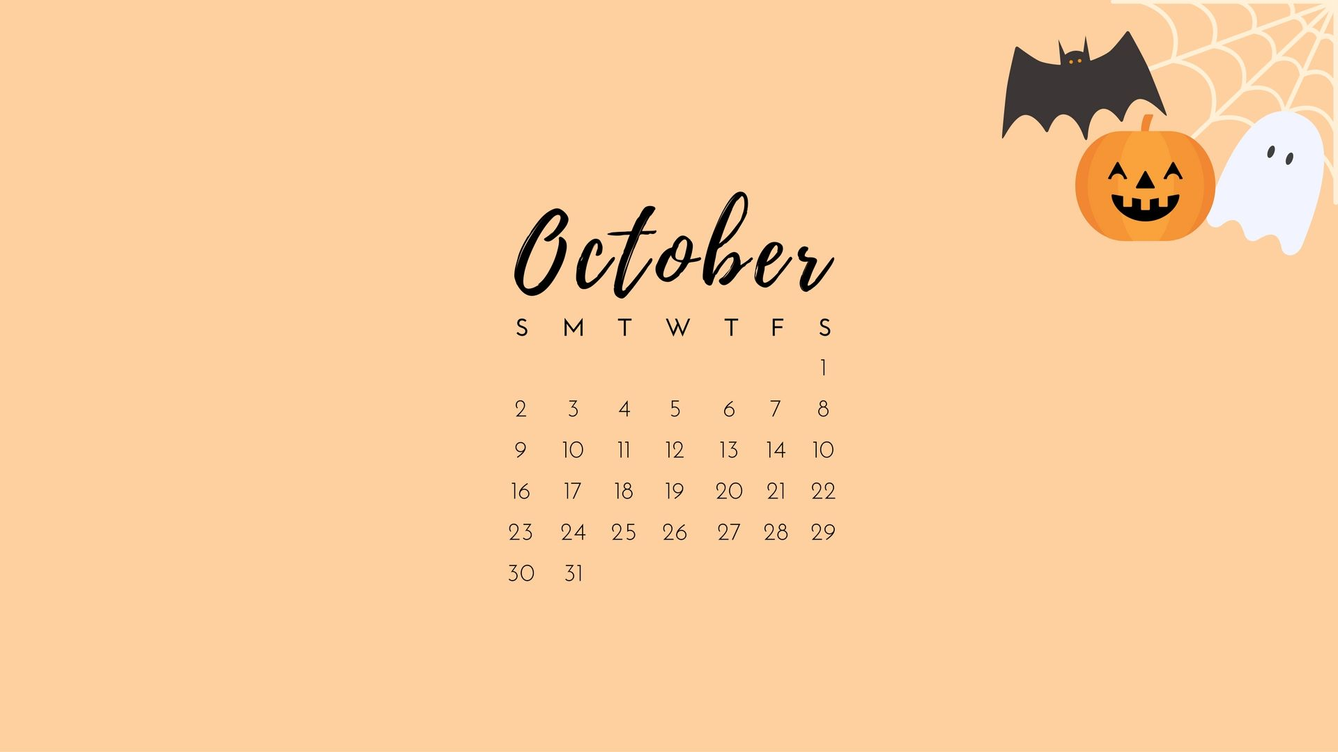 October 2016 Calendar Desktop Wallpaper Desktop Wallpaper Calendar Halloween Desktop Wallpaper Desktop Wallpaper