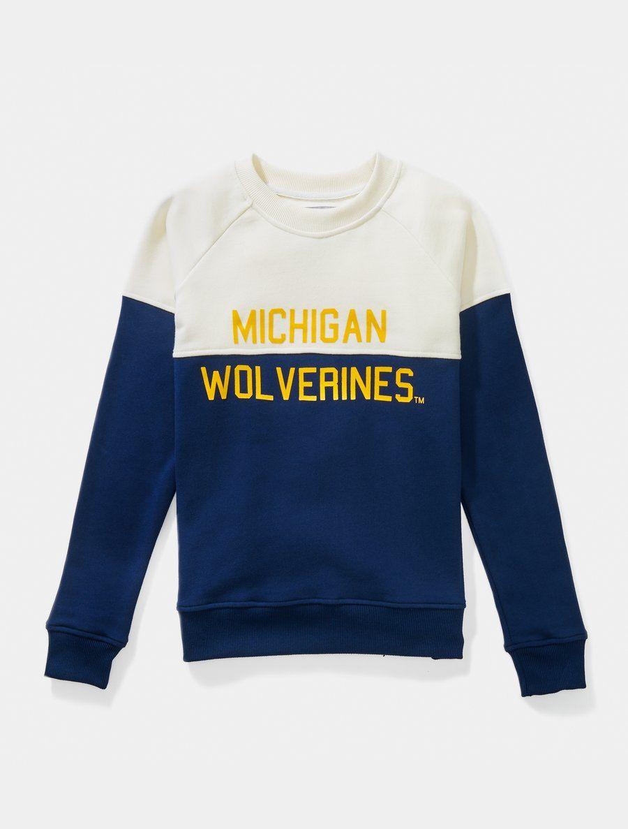 University Of Michigan Colorfield Sweatshirt Michigan Wolverines Michigan Shirts Sweatshirts Michigan Apparel [ 1187 x 900 Pixel ]