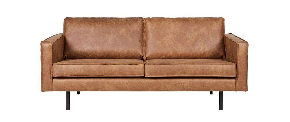 Sofa modern braun  Canapé cuir vintage camel 2 places ASPEN | Canapés | Pinterest | Aspen