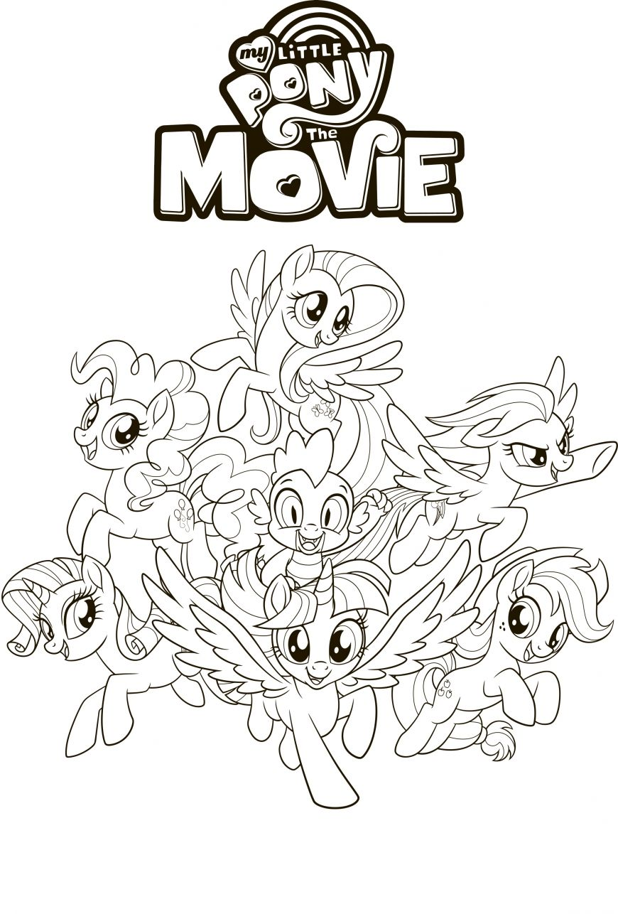 My Little Pony The Movie Coloring Pages My Little Pony Coloring