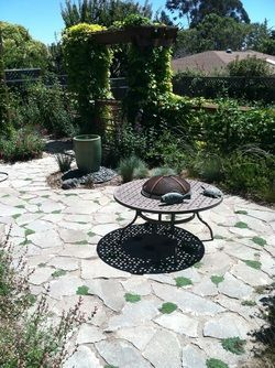 patio made with broken concrete - urbanite | Home - backyard ... on backyard food ideas, backyard furniture ideas, small backyard ideas, backyard sand ideas, backyard gravel ideas, backyard water ideas, sloped backyard ideas, backyard rock ideas, backyard floor ideas, backyard tile ideas, backyard paint ideas, backyard landscaping ideas, backyard brick ideas, backyard slate ideas, backyard construction ideas, backyard wood ideas, backyard building ideas, backyard stone ideas, backyard grass ideas, backyard pavers ideas,