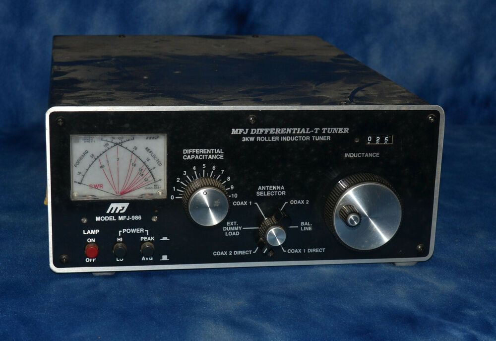 Mfj 986 Differential T 3kw Roller Inductor Antenna Tuner Mfj Inductors Tuner Antenna