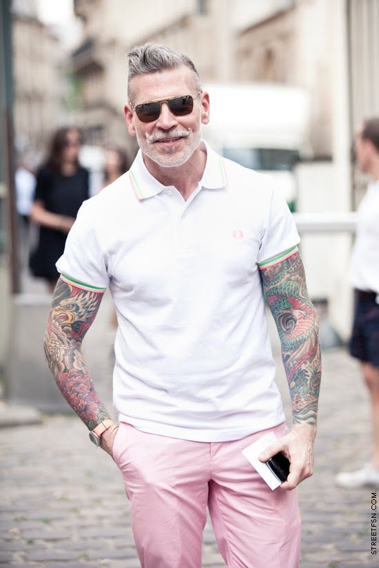 A Little Bit Miami Style With That Excellent Stache And Those Pink