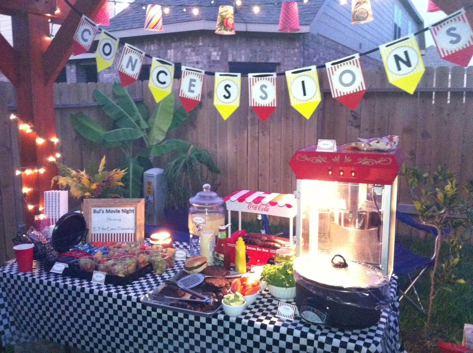 backyard movie night tatums 11th birthday party pinterest