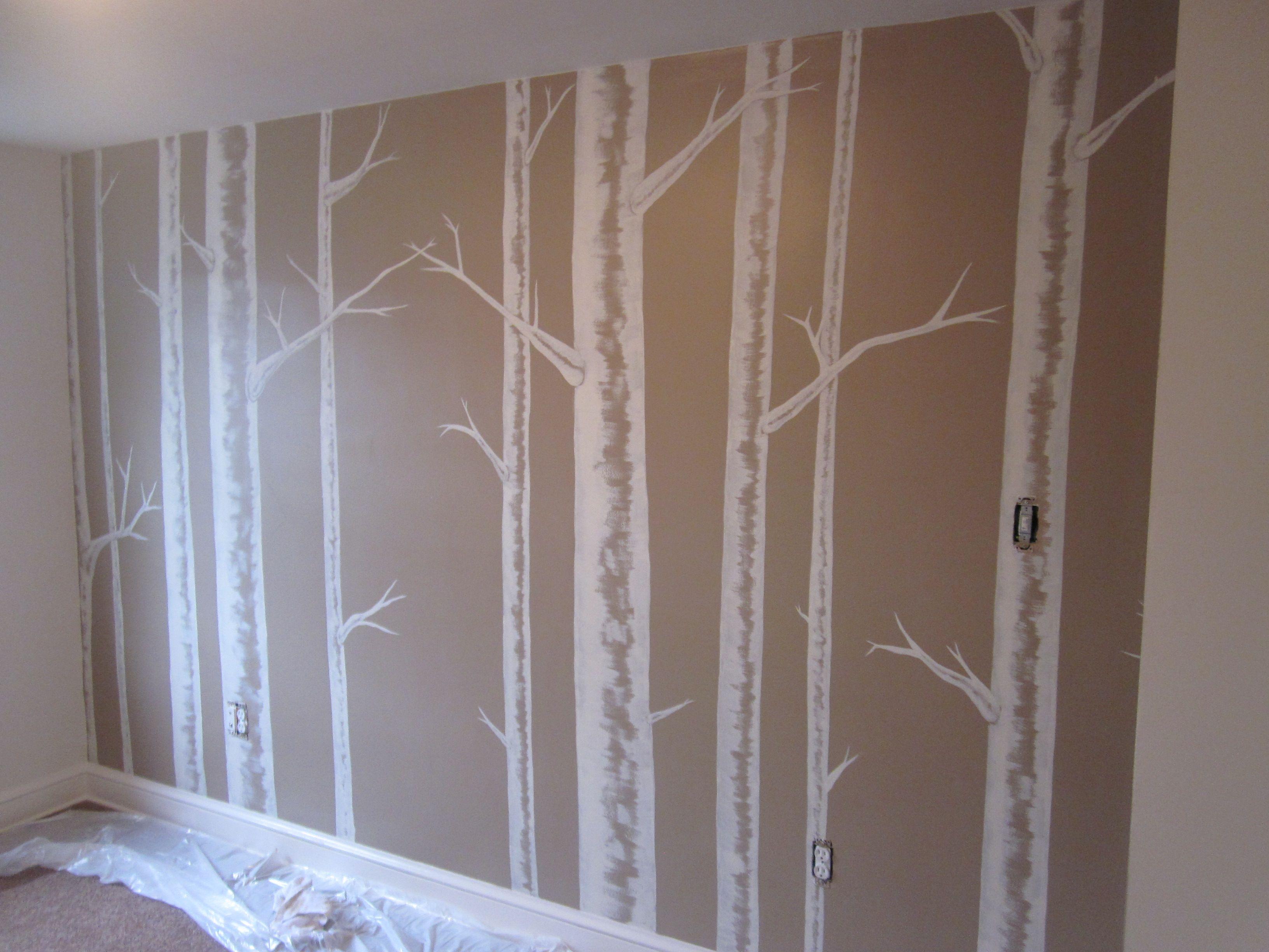 Birch Tree Tutorial In 2019 Tree Wall Murals Birch Tree
