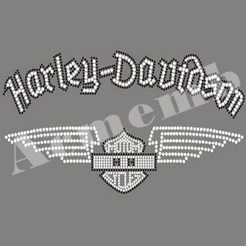 Wholesale Rhinestone Harley Davidson Iron On Transfers