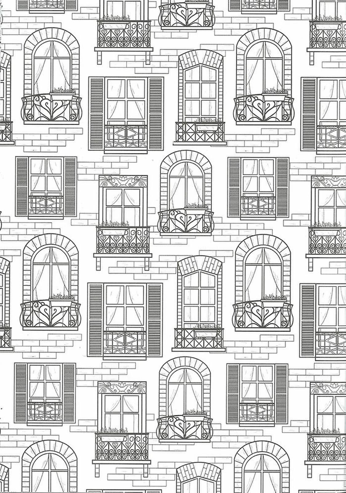 Window Drawings Coloring Pages Coloring Books Coloring Pages For Grown Ups