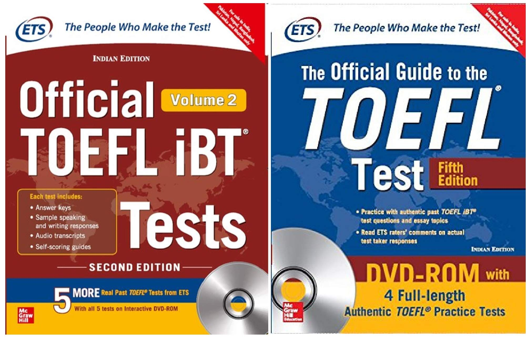 The Official Guide To The Toefl Test With 4 Full Length Authentic Toefl Practice Tests On Dvd Rom Official Toefl Ibt Tests Volume Ii