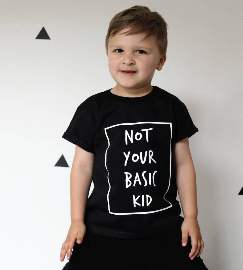 Cribstar T-shirt 'Not You Basic Kid' - 100% biokatoen - Shop bij minimonsters.be