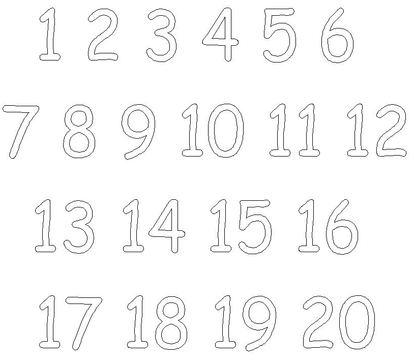Free Printable Numbers Coloring Pages 1