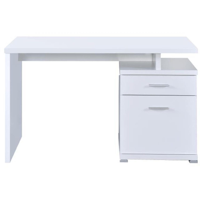 White Computer Desk W Cabinet Aptdeco White Computer Desk