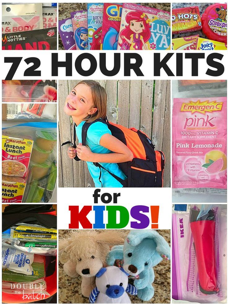How To Make 72 Hours Kits For Kids - Emergency Kits For Kids #hurricanefoodideas
