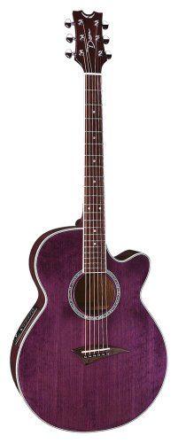 Dean Performer Mini Jumbo Acoustic Electric Cutaway Guitar With Tuner Preamp Trans Purple Dean Guitars Http Www Amazon Com Dp B0 Dean Guitars Guitar Dulcimer