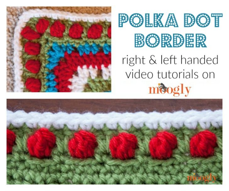 Polka Dot Border Tutorial Crochet Edging Patterns Borders Free