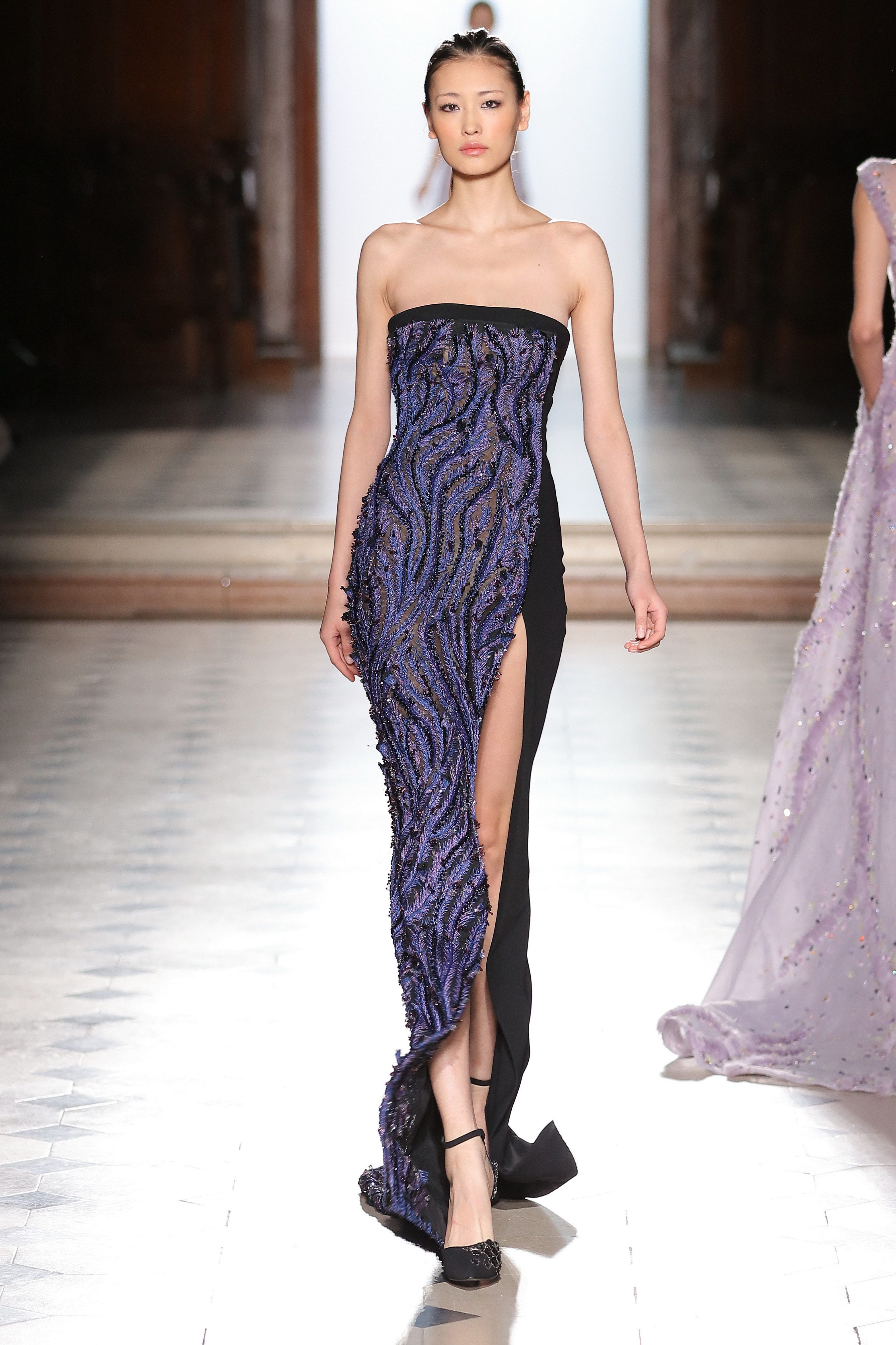 7ada7d218e5 Tony Ward Couture I Spring Summer 2018 I Black strapless dress in crepe.
