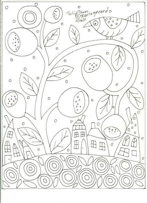 Adult Coloring Page Istruzione Pinterest Boyama Sayfaları