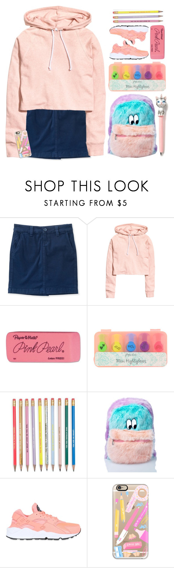 """""""School Rocks"""" by doga1 ❤ liked on Polyvore featuring Aéropostale, Paper Mate, Lazy Oaf, NIKE, Casetify and BackToSchool"""