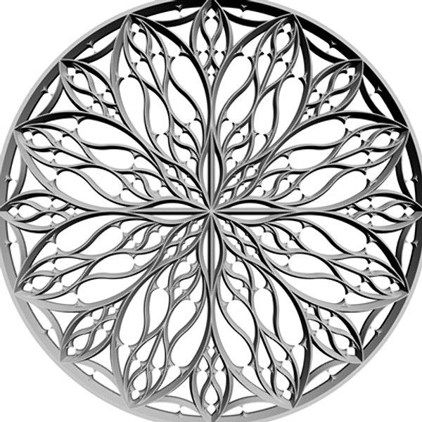 Rose Window Model Available On Turbo Squid The Worlds Leading Provider Of Digital Models For Visualization Films Television And Games