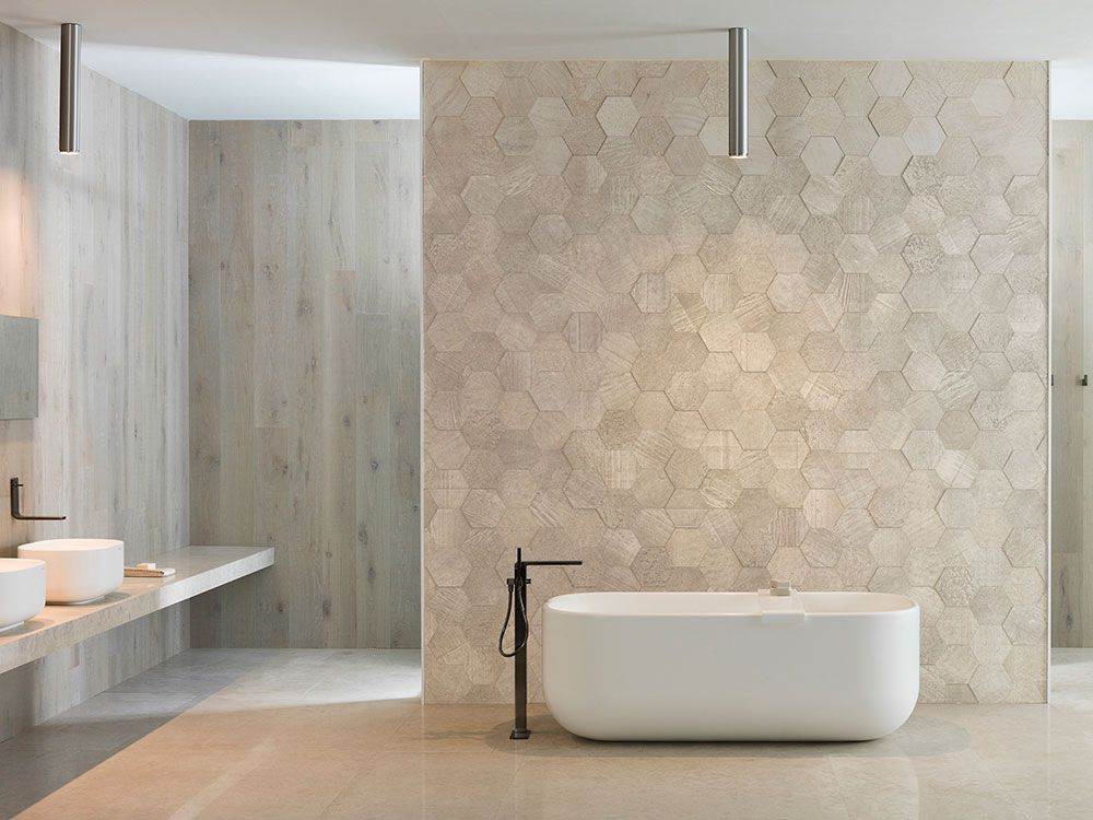 Amsterdam 2d Hexagon Beige Natural Stone Wall Tile L Antic