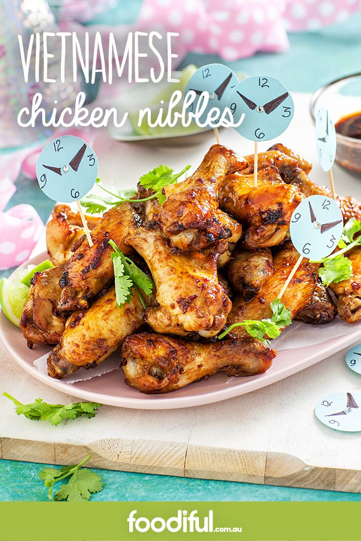 With only 4 ingredients, these chicken wings make fantastic nibbles. Marinated in fish sauce and sambal oelek, they're flavoursome wingettes. This recipe serves 8 and takes 55 minutes to make.